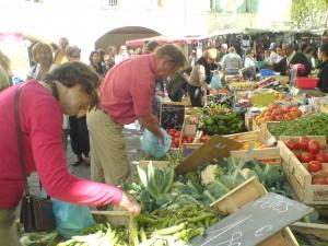 Marknad i Uzes